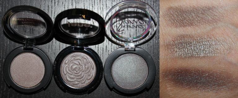 Left to Right/Top to Bottom: ELF Heartbreaker, Jane Cosmetics Slate, Sigma Triomphe