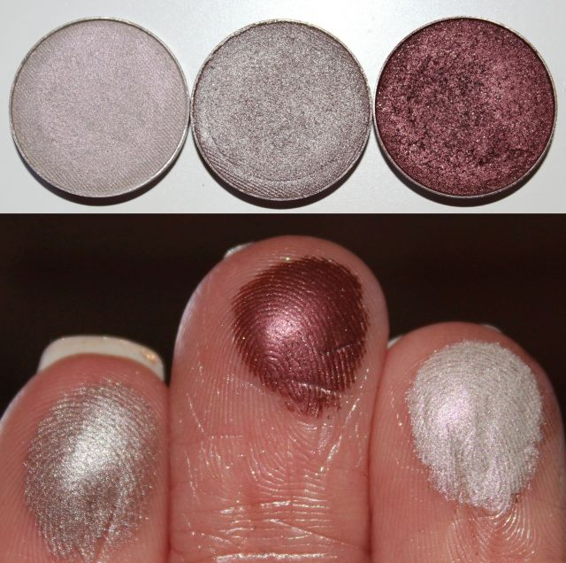 Makeup Geek Eye Shadow pans left to right: Rock Star, Prom Night, Show Time