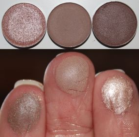 Shadow pans left to right: Starry Eyed, Barcelona Beach, Taupe Notch