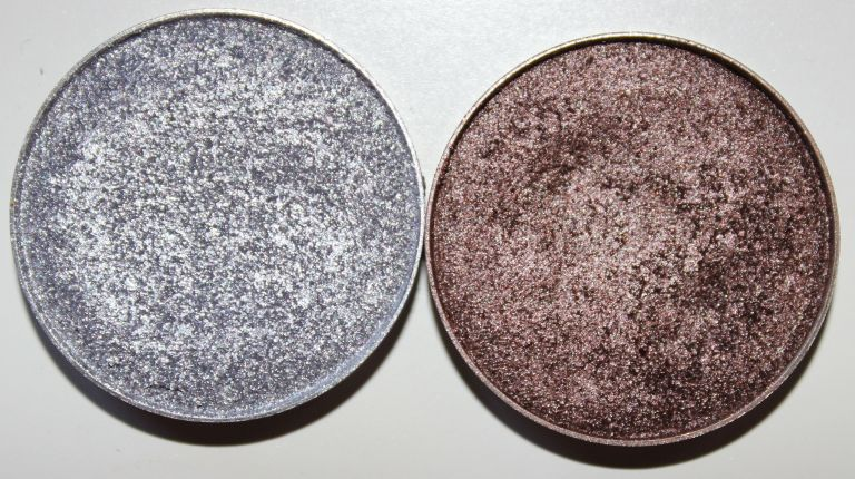 Left to Right: Makeup Geek Foiled Eye Shadows in High Wire and Mesmerized
