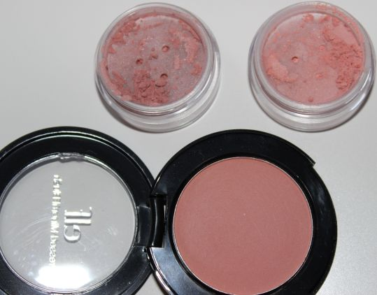 Top: Silk Naturals in Flirt and Petal Bottom: ELF Studio Blush in Sweet Retreat