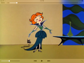 Screenshot, Jetsons Season 1 (c. 1963) episode 22, Miss Solar System