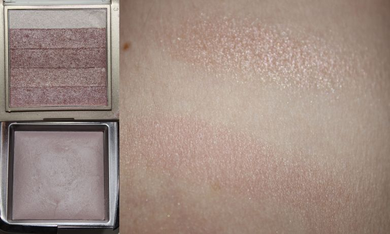 Top: Milani Shimmer Stripes in Pink Shimmer Bottom: Hourglass Ambient Lighting Powder in Mood