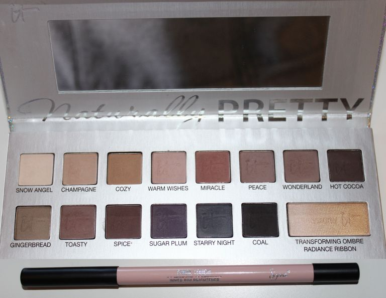 Top to Bottom: It Cosmetics Naturally Pretty Celebration Palette, Sigma Beauty Inner Rim Brightener in Final Touch