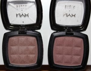 NYX Powder Blush Taupe and Raisin