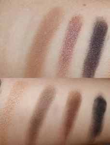 Top and Bottom Rows of Eye Shadows in Pur Minerals Selfie Palette