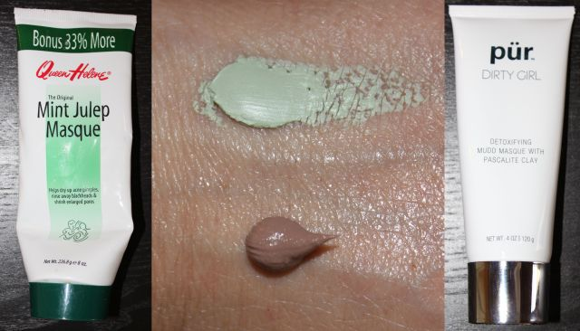 Left & Top: Queen Helen Mint Julep Mask, Bottom & Right: Pur Minerals Dirty Girl Detox
