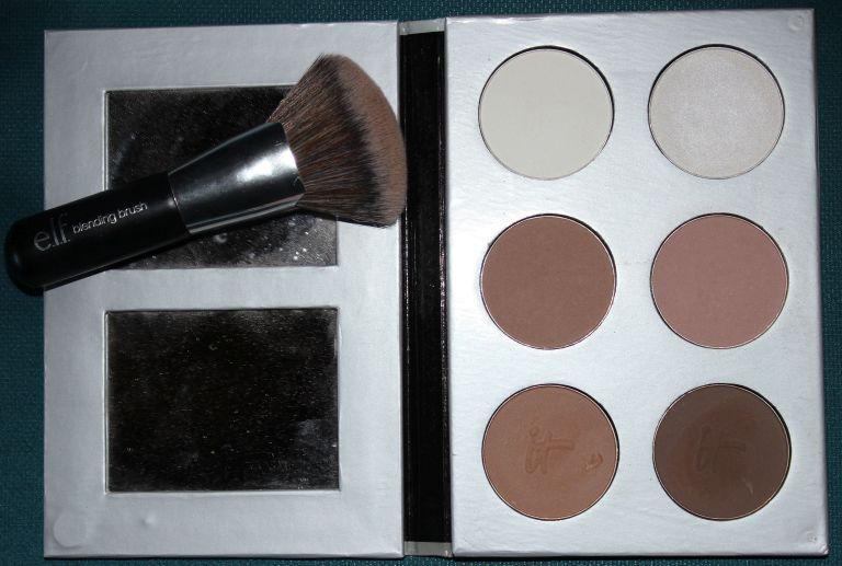 It Cosmetics My Sculpted Face Palette, ELF Blending Brush