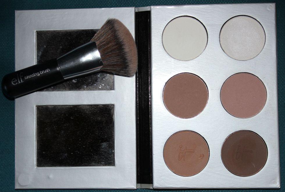 It Cosmetics My Sculpted Face Palette, ELF Blending Brush