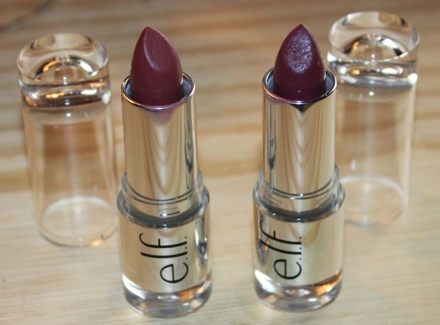 ELF Satin Lipsticks in Touch of Blush and Touch of Berry