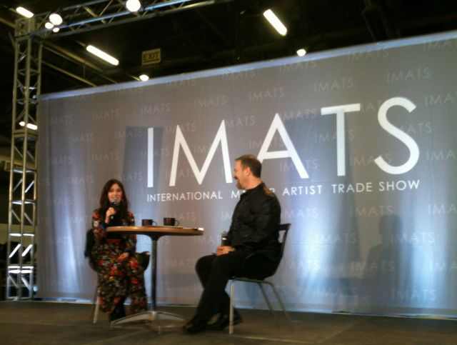 front row for Lisa Eldridge at IMATS NYC 2016