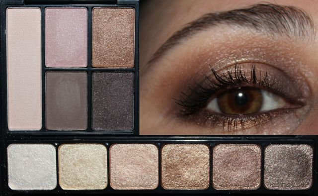 ELF Clay Eyeshadow Palette in Saturday Sunsets, ELF Prism Eyeshadow Palette in Naked