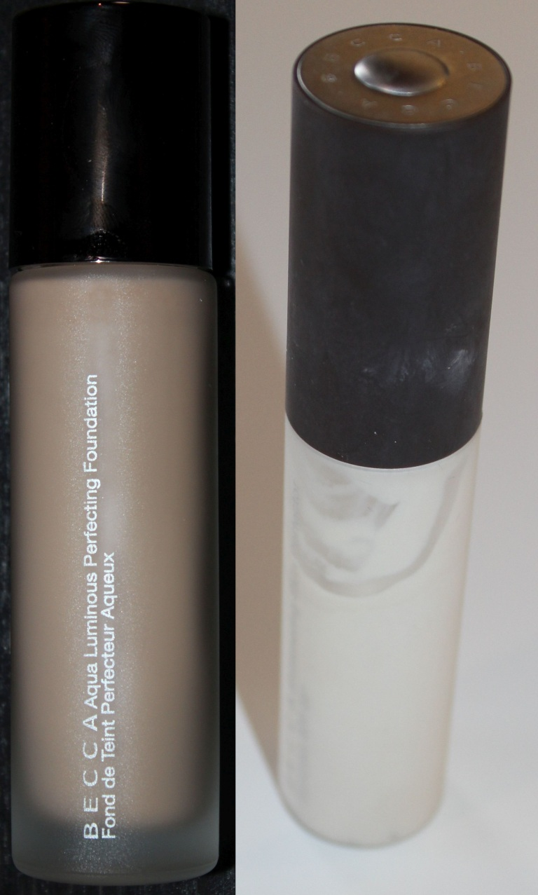 BECCA Aqua Luminous Foundation and Shimmering Skin Perfector