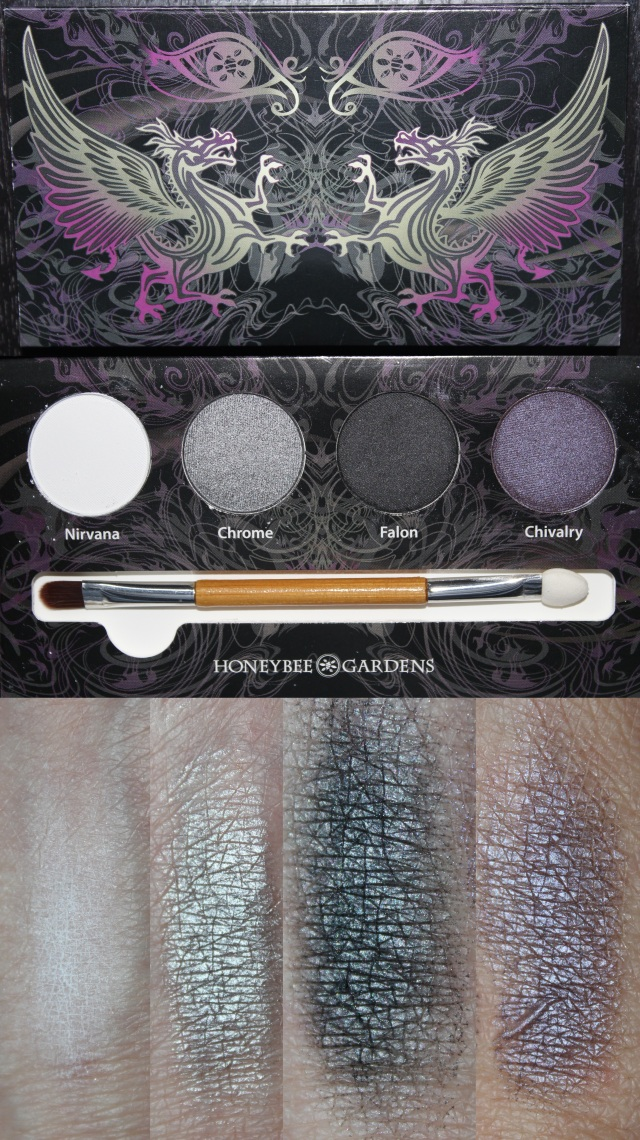 Honeybee Gardens Rock the Smokey Eye Shadow Palette with swatches