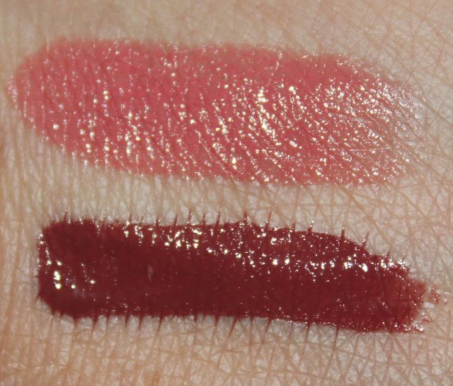 100% Pure Lipstick in Foxglove and Lip Caramel in Truffle