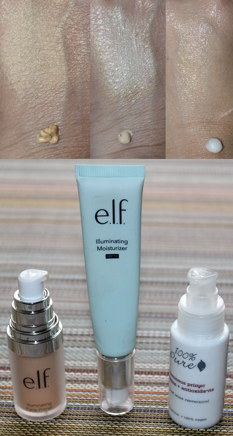 illuminating primer ELF, illuminating primer 100% Pure
